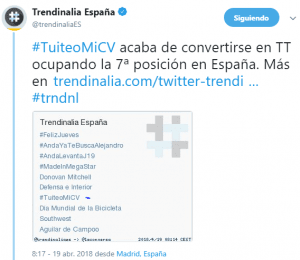 #SEOHAshtag #tuiteoMiCV