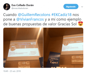 #EKCadiz18 Eva Collado y Vivian Francos Referentes de #MarcaPersonal