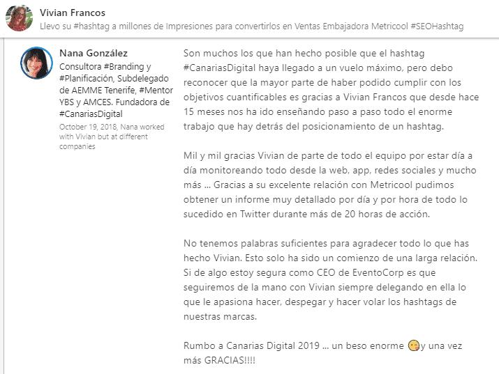 Nana Gonzalez #CanariasDigital #SEOhashtag