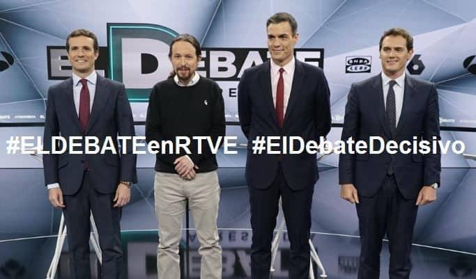 #ELDEBATEenRTVE #ElDebateDecisivo #SEOhashtag